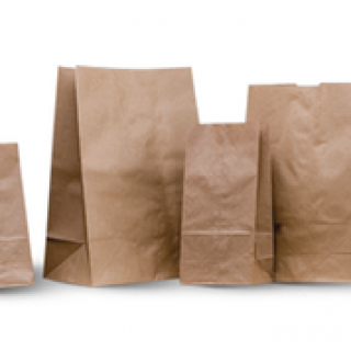 brown sos paper bags