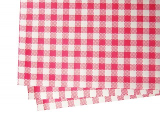 greaseproof paper red check